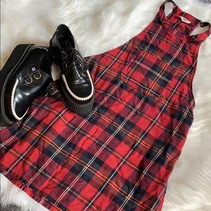 Vans Plaid Mini Jumper Dress